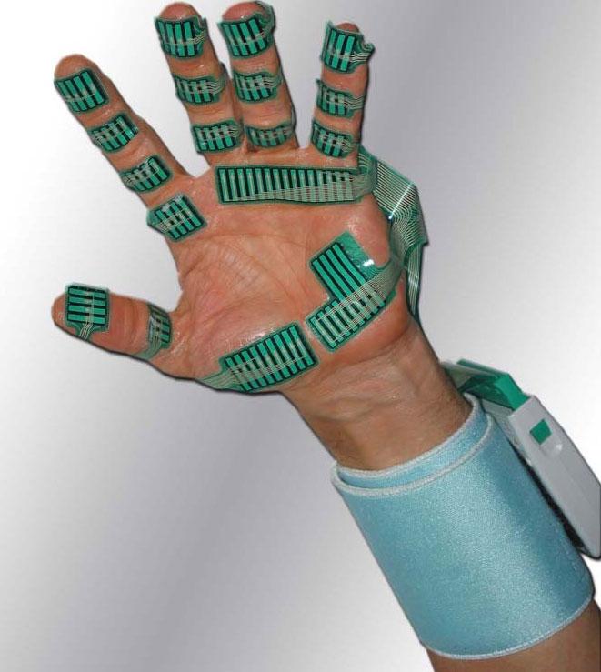 Tekcsan Grip Research System, ειδικών αισθητήρων καταγραφής πίεσης άκρας χειρός